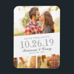 "Timeless 3-Photo Save The Date Magnet<br><div class=""desc"">Showcase your favorite photos from your engagement in style with this 3-photo save the date template.</div>"