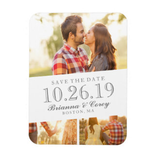 Timeless 3-Photo Save The Date Magnet
