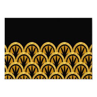 Timeless Art Deco Scallops RSVP Card
