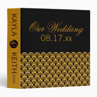 Timeless Art Deco Wedding Album 3 Ring Binder