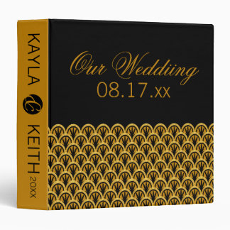Timeless Art Deco Wedding Album Vinyl Binder