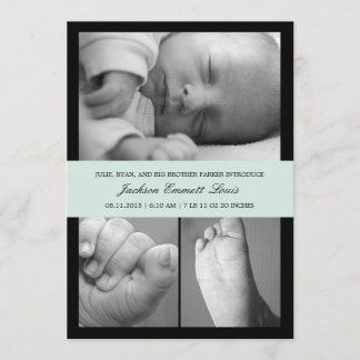 Timeless Band Birth Announcement - Blue