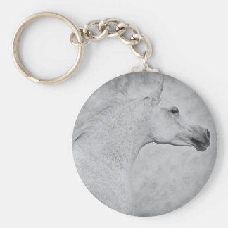Timeless Beauty Basic Round Button Keychain
