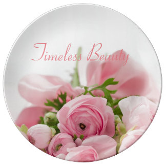Timeless Beauty Pink Bouquet Collector Plate