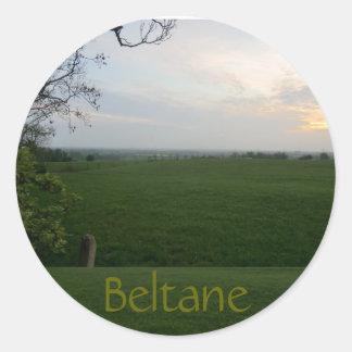 Timeless Beltane Sunset Classic Round Sticker