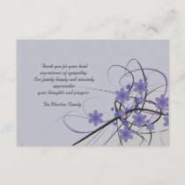Timeless - Bereavement Thank You Notecard