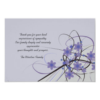 Timeless - Bereavement Thank You Notecard 3.5x5 Paper Invitation Card