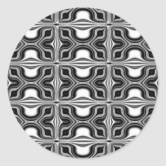 Timeless Black&White Classic Round Sticker