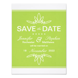 Timeless Charm Save the Date Announcement - Celery