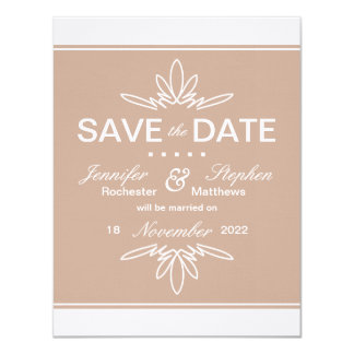 Timeless Charm Save the Date Announcement - Dune