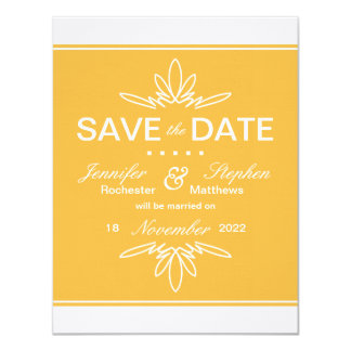 Timeless Charm Save the Date Announcement - Honey