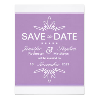 Timeless Charm Save the Date Announcement - Orchid