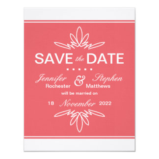 Timeless Charm Save the Date Announcement - Rose