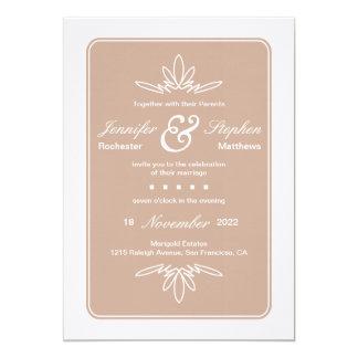 Timeless Charm Wedding Invitation - Dune
