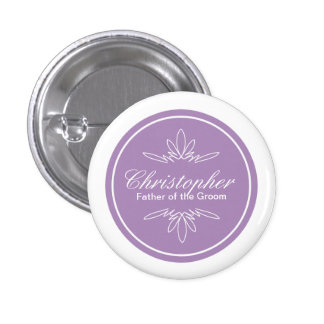 Timeless Charm Wedding Party Name Button - Orchid