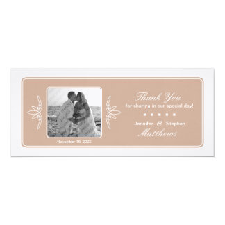 Timeless Charm Wedding Photo Thank You - Dune Card