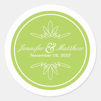 Timeless Charm Wedding Stickers - Celery