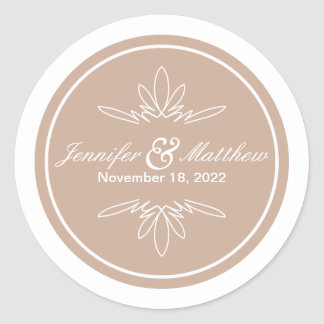 Timeless Charm Wedding Stickers - Dune