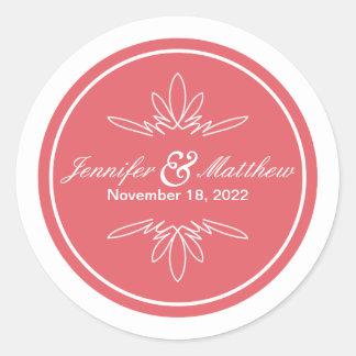 Timeless Charm Wedding Stickers - Rose
