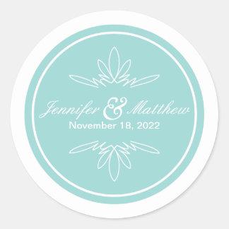 Timeless Charm Wedding Stickers - Sky