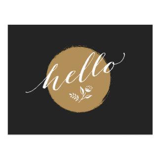 "Timeless, charming way to say ""Hello"" Postcard"