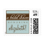 Timeless Classic Bridal Shower Stamp (baby blue)