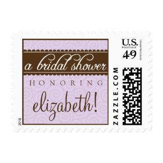 Timeless Classic Bridal Shower Stamp (lavender)