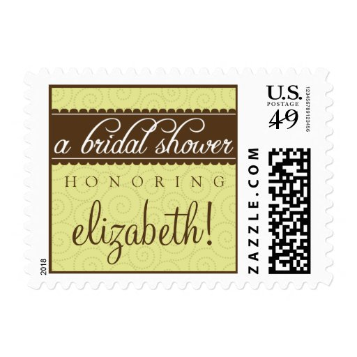 Timeless Classic Bridal Shower Stamp (lime)
