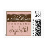 Timeless Classic Bridal Shower Stamp (peach)