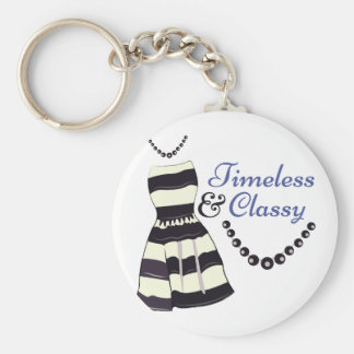 Timeless & Classy Basic Round Button Keychain