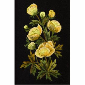Timeless Globeflower Photo Sculpture Pin