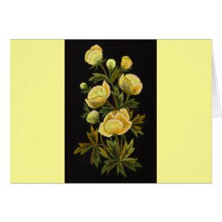Timeless Globeflowers Card