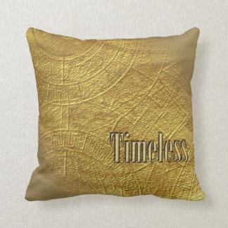 Timeless Golden Sands Throw Pillow