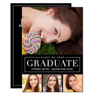 Timeless Grid EDITABLE COLOR Graduation Invitation