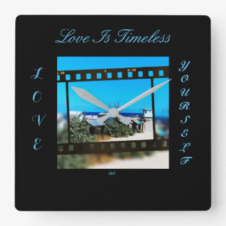 Timeless Love Square Wall Clock