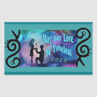 Timeless Luv Rectangular Sticker