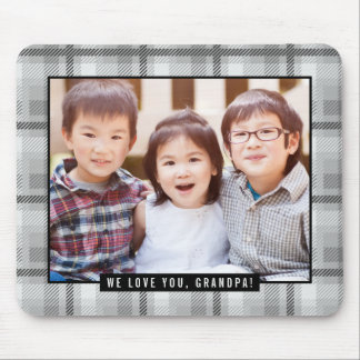 Timeless Plaid Custom Photo Mouse Pad