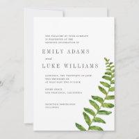 Timeless Romance Fern  | Wedding Invitation