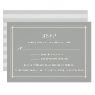 Timeless RSVP Card w/ Meal Choice | Greige