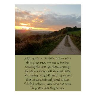 Timeless Samhain Sunset Postcard