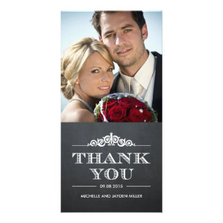 Timeless Sentiment Thank You Cards - Chalkboard Photo Cards