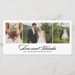 """Timeless   Wedding Thank You Photo Card<br><div class=""""desc"""">Photographs provided courtesy of &#169;Blush Photography</div>"""