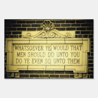 Timeless wisdom Old English Golden Rule Sign