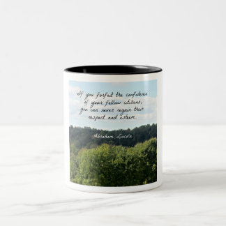 Timely Quote by Abraham Lincoln Two-Tone Coffee Mug