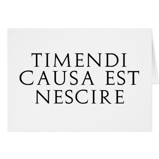 Timendi Causa Greeting Card
