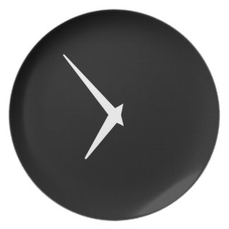 Timepiece by Leslie Peppers Party Plate