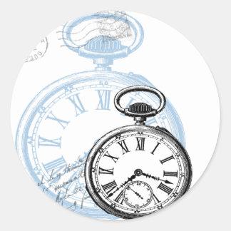 Timepiece Pocketwatch Sticker Tag Vintage Style