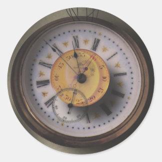 Timepiece Steampunk Clock Classic Round Sticker