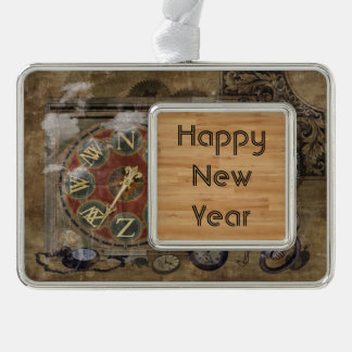 Timepiece Theme New Year Customizable Text Christmas Ornament