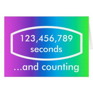 Timepodz rainbow card - seconds